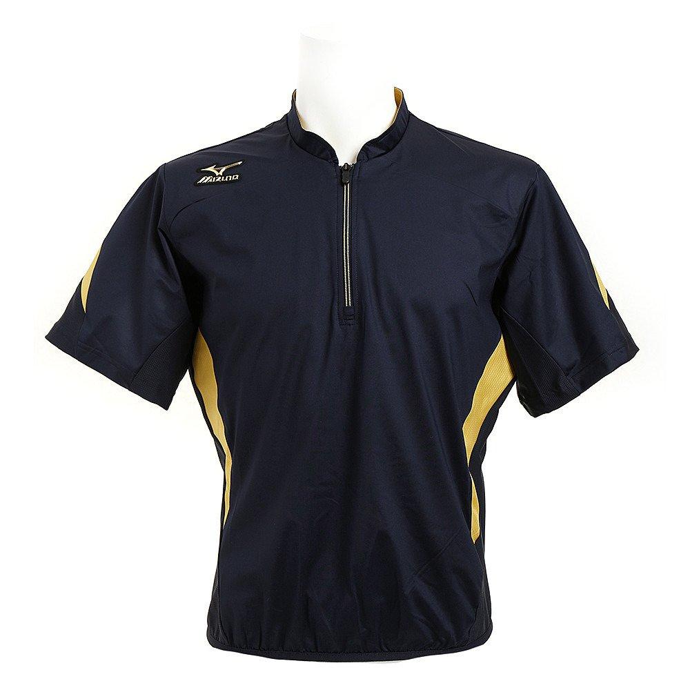 MIZUNO(ミズノ) (ミズノプロ) トレーニングジャケット/半袖 (14ディープネイビー×ゴールド) 野球 ウエア トレーニングジャケット (12JE6J83) B01CDY9Q14ネイビー×ゴールド M