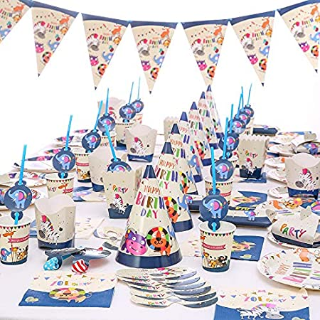 Amycute - 99 platos y vasos para fiestas de cumpleaños ...