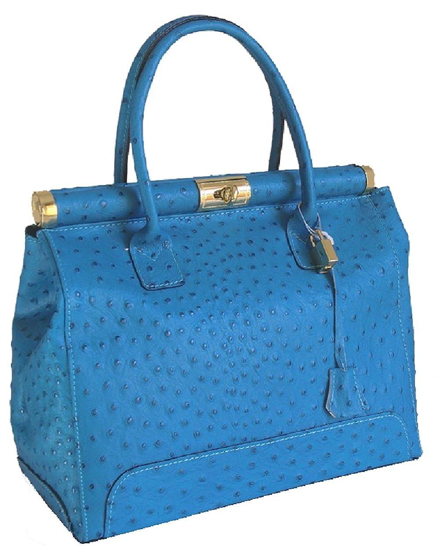 4b78a00cfd7e Amazon.com: ITALIAN Genuine LEATHER Tote Handbag with Shoulder Strap ...