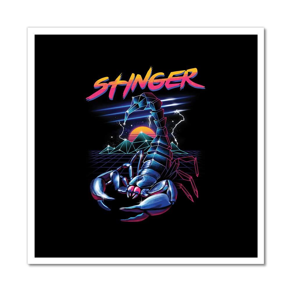 MightySkins Stinger Scorpion Artwork | Choose from Canvas or Art Print | Living Room, Bedroom, Office, Bathroom Wall Decor Art Ready to Hang para El ...