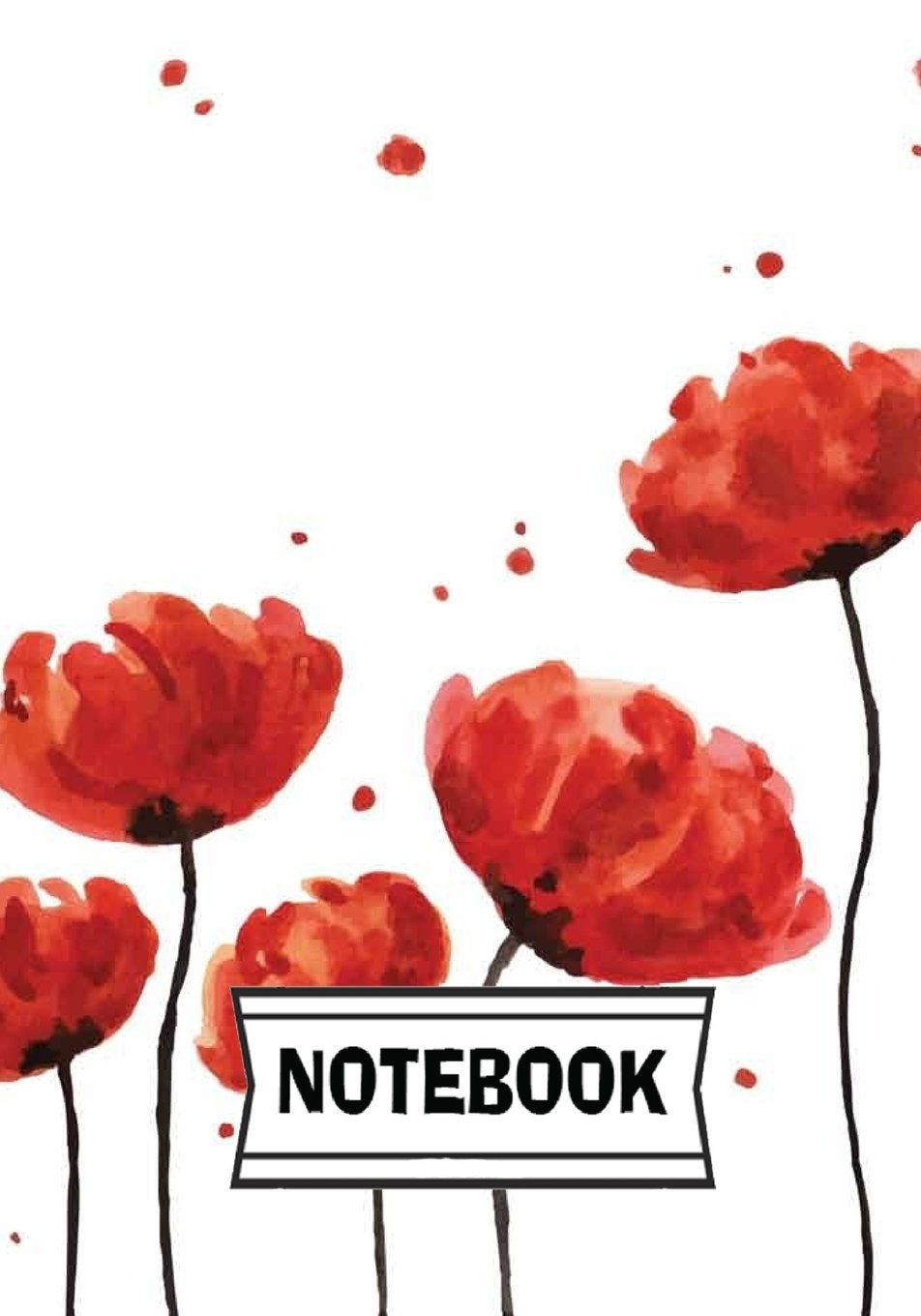 Notebook: Red flowers pdf
