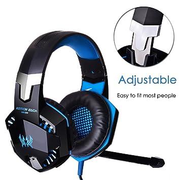 Auriculares con Micrófono para PS4 Auriculare Gaming [ Micrófono Ajustable ] Estéreo y Control de Volumen y Diadema Cerrados con PS4 Xbox one PC Laptop ...
