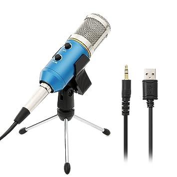 Micrófono Condensador USB Profesional para Grabar y Cantar fd8b9e59ab0