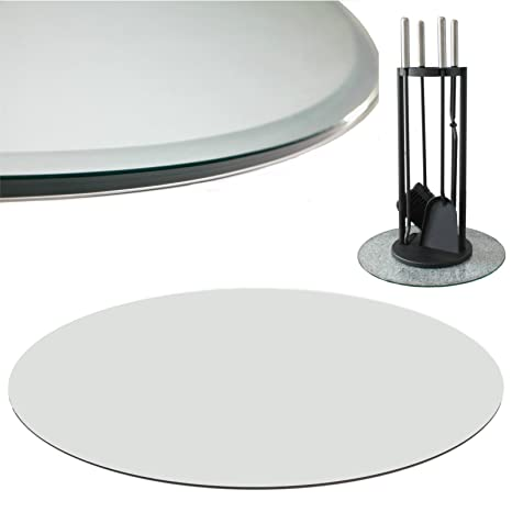 Euro Tische Glasplatte Für Kaminofen Rund   Glasscheibe Mit 6mm ESG  Sicherheitsglas   Perfekt Geeignet Als