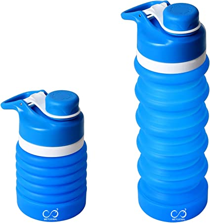 Folding Hang able Outdoor Travel Camping Foldable Collapsible Drink Water Bottle