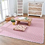 WAN SAN QIAN- Rug Home Cotton Slip-resistant Carpet Bedroom Rectangular Bedside Rug Children Crawling Mat Machine Washable Rug ( Color : B , Size : 200x210cm )