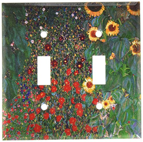 Sunflower Toggle - Art Plates - Klimt: Sunflowers Switch Plate - Double Toggle