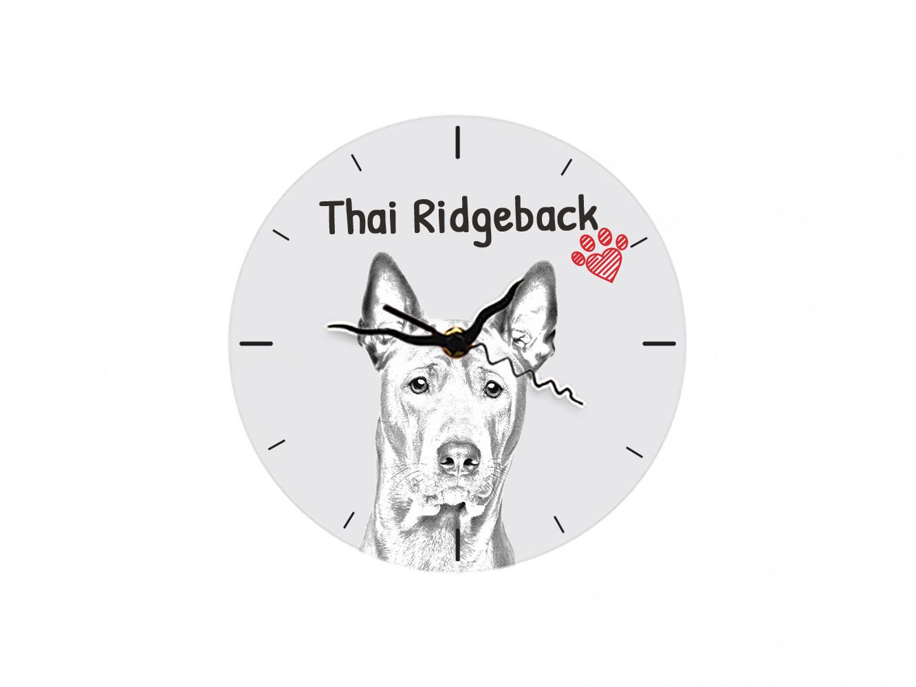 Thai Ridgeback, freestanding MDF floor clock with an image of a dog by Art Dog Ltd.
