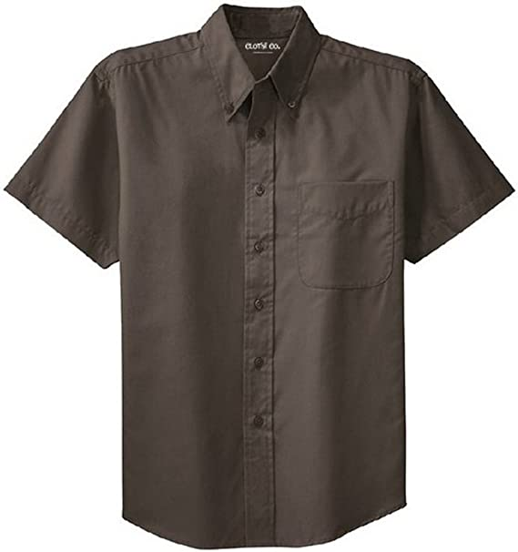 MEN/'S CLASSIC EASY CARE OXFORD SHIRT POCKET LT-6XLT TALL STAIN RESISTANT