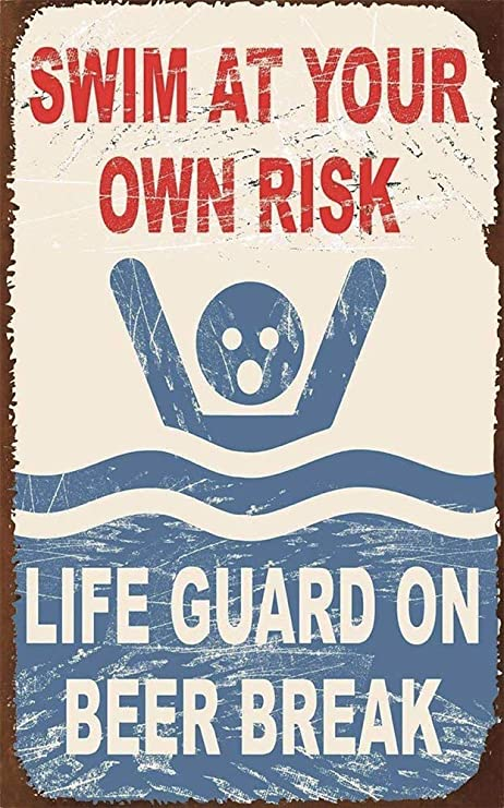 Froy Life Guard on Beer Break Pared Cartel de Chapa Retro ...