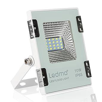 LEDMO focos led 10W blanco frío,990LM focos exterior led SMD2835 IP65 impermeable foco led