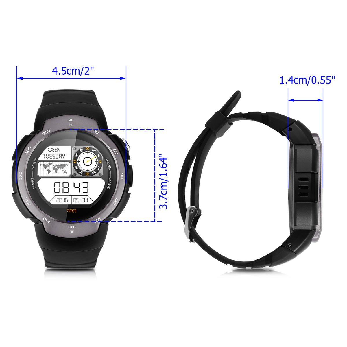 Zeblaze Blitz - 3G Impermeable Ajustable Smartwatch Smartphone Reloj Android 5.1 (Pantalla 1.33, MTK6580 Quad Core, SIM, Bluetooth 4.0, 4G Rom, WIFI GPS, ...