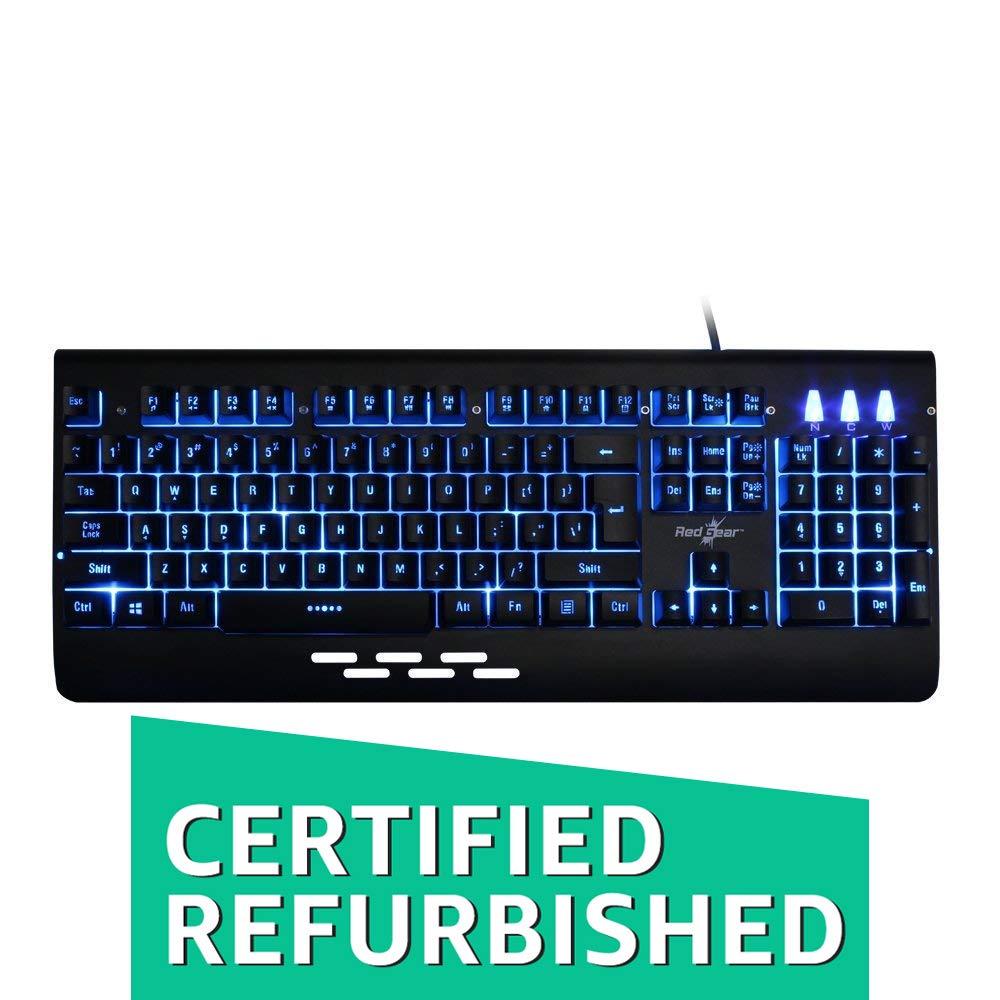 (Renewed) Redgear Blaze 3 colour backlit gaming keyboard with full aluminium body & windows key lock