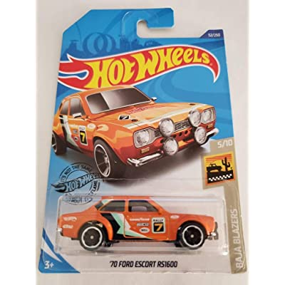 Hot Wheels 2020 Baja Blazers '70 Ford Escort RS1600, Orange 52/250: Toys & Games