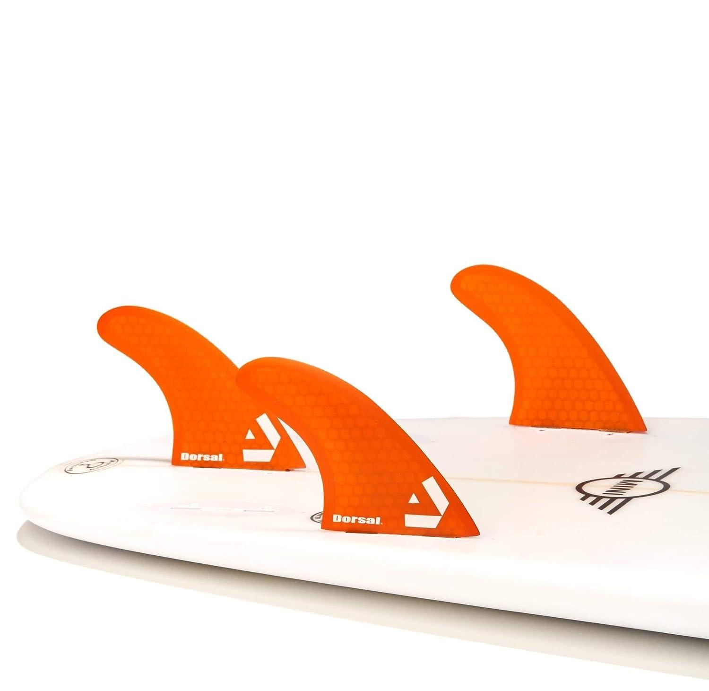 Dorsal Performance Core FCS Thruster Set Honeycomb Orange