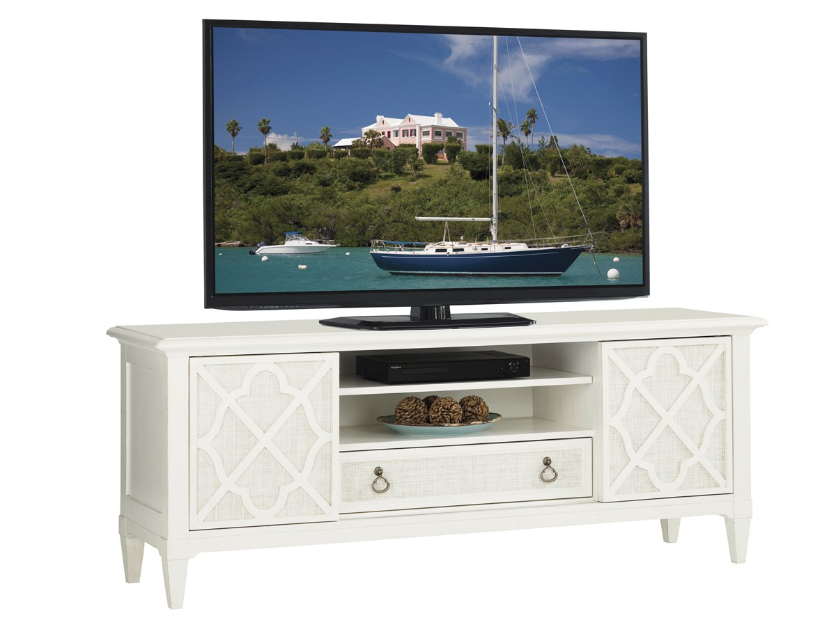 Ivory Key - Warf Street Entertainment Console by Tommy Bahama
