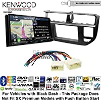 Volunteer Audio Kenwood Excelon DNX994S Double Din Radio Install Kit with GPS Navigation Apple CarPlay Android Auto Fits 2012-2014 Kia Rio (Black)