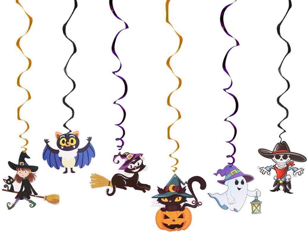 Airfere Fête de Halloween fond mur fête ornement en spirale Décorations de fêtes