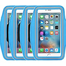 4Pack Universal Sports Armband for 5.7 Inch Screen Apple iPhone 6/6s iPhone 6/6s Plus Samsung Galaxy S7/S6/S5/S4 Sweatproof Running ArmBelt With Small Holder & Pouch for Keys Card