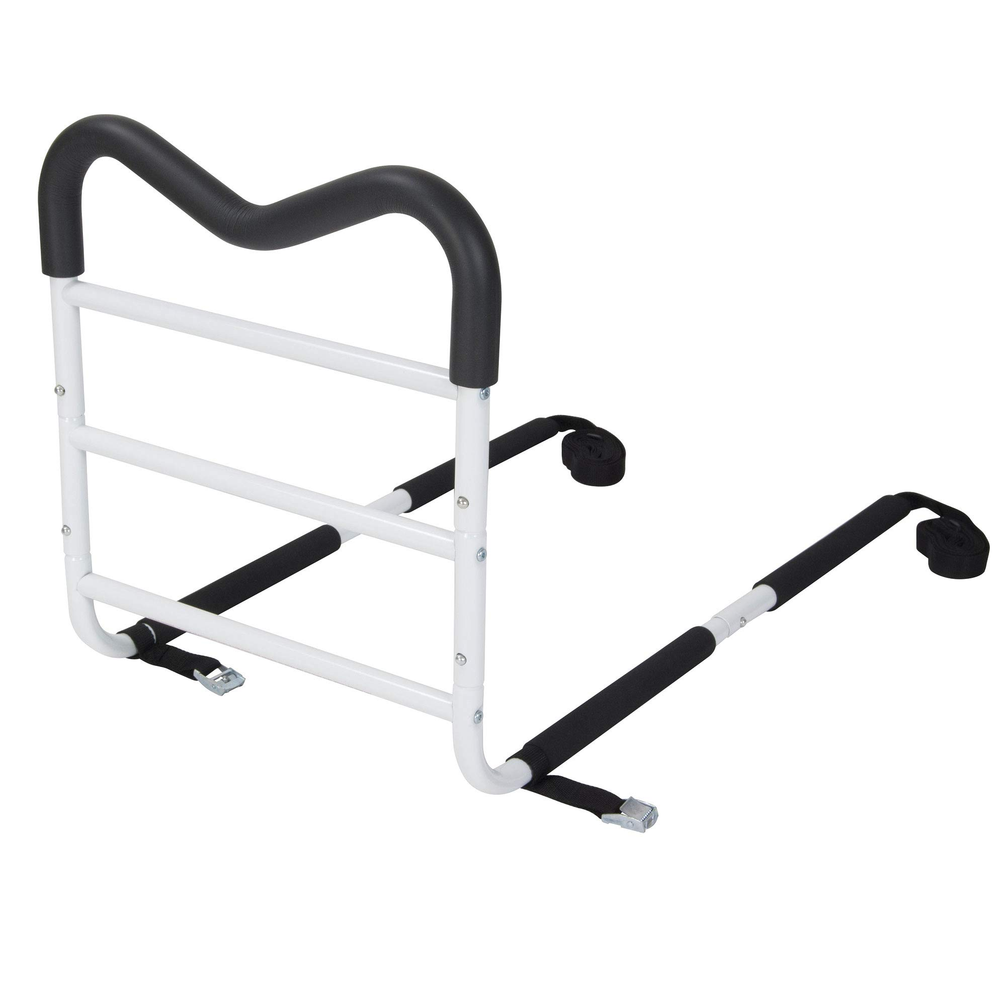 Bios Medical Adjustable M Shaped One Size Fits All Safety Bed Handrail, White by Bios