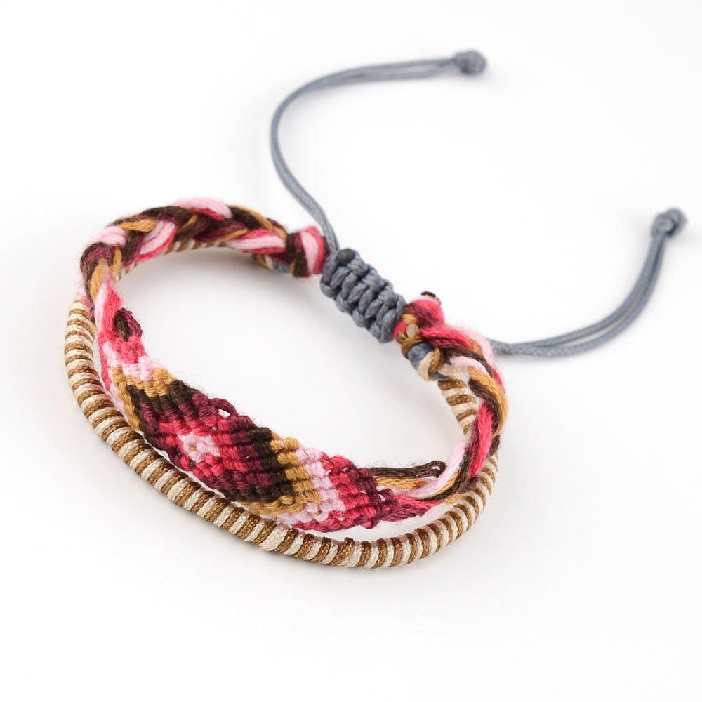 Tarsus Woven Adjustable Handmade Friendship Bracelet BFF Birthday Gift for Women Teens and Girls 3 Set