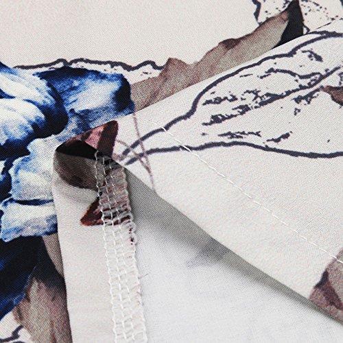 Impression Shirt Grande Col Solike Loose 5XL Chic Longues Automne avec Casual Taille V Femme S T Printemps Manches Tunique Kaki Blouse Paillettes Floral Chemise Tops R5q5Or8