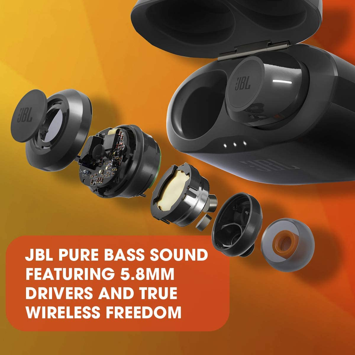 Buy JBL TUNE 120TWS - True Wireless In-Ear Bluetooth Headphones with Microphone, Wireless Bluetooth Earbuds, up to 16 Hours Battery, works with Android and Apple iOS (Black) White SK6WU4s