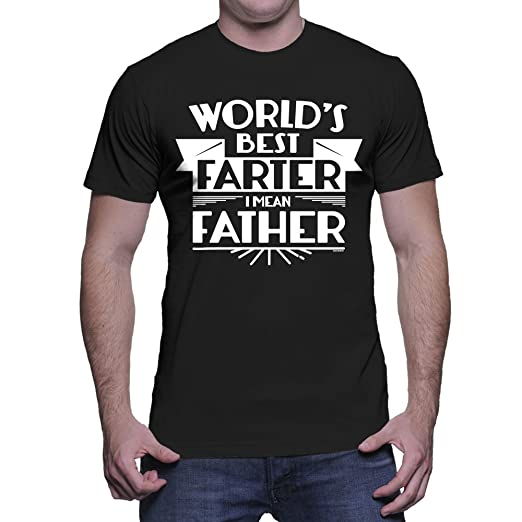 8aed226c Amazon.com: Men's World's Best Farter, I Mean Father T-Shirt: Clothing