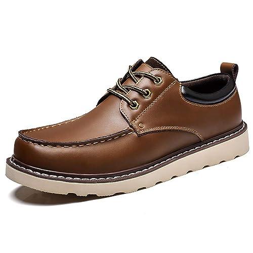 f81e09860c9a3 ... de Los Hombres Ocasionales Cómodos Sencillos Zapatos para Botes Luz  Color Puro con Cordones Zapatillas de Deporte Planas de Moda  Amazon.es   Zapatos y ...