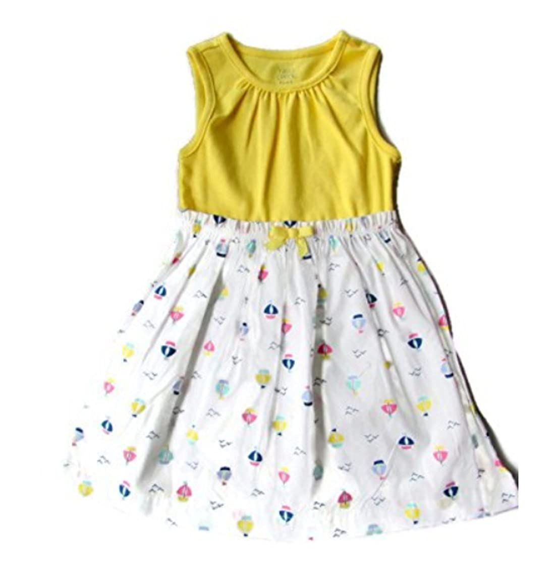 8cef9e0d8d83b Baby Girlsヨットノースリーブコットン100 %サンドレスドレスセット 0 - 3 Months Sailboat