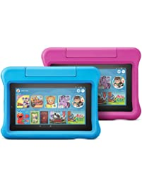 All-New Fire 7 Kids Edition Tablet 2-Pack, 16 GB, Blue/Pink Kid-Proof Case