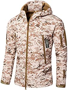 12. Camo Coll Men's Outdoor Soft Shell Hooded Tactical Jacket