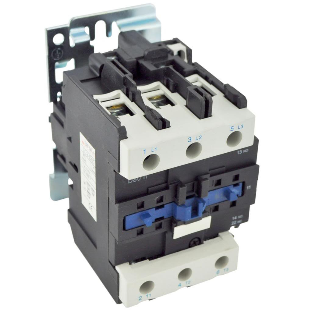 Direct Replacement for TELEMECANIQUE LC1-D80 AC Contactor LC1D80 LC1D8011-M6 220V Coil 3 Phase 3 Pole 80 Amp by Brah Electric (Image #2)
