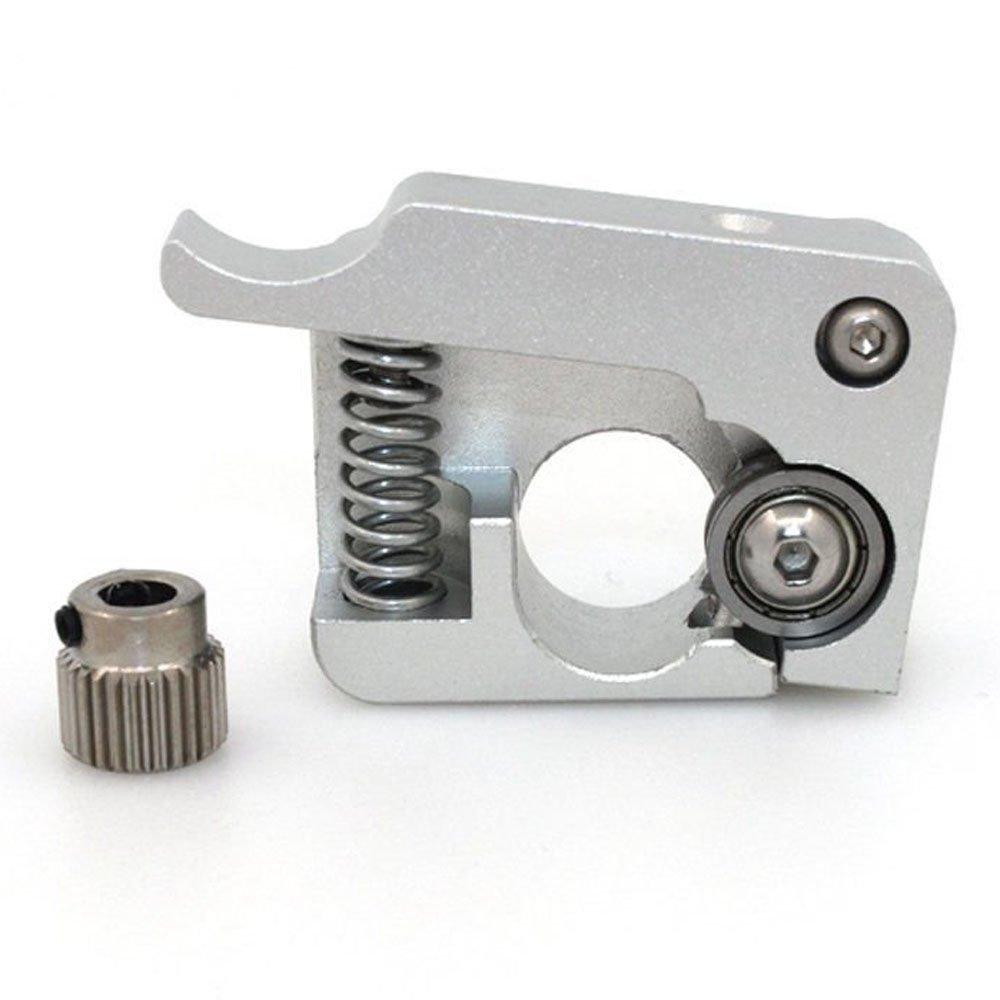 Silver Left Hand WINGONEER® WINGONEER MK10 Feed Device J-head For Makerbot II CTC MK8 Dual Extruder 1.75 Filament//I3 3D Printer Part