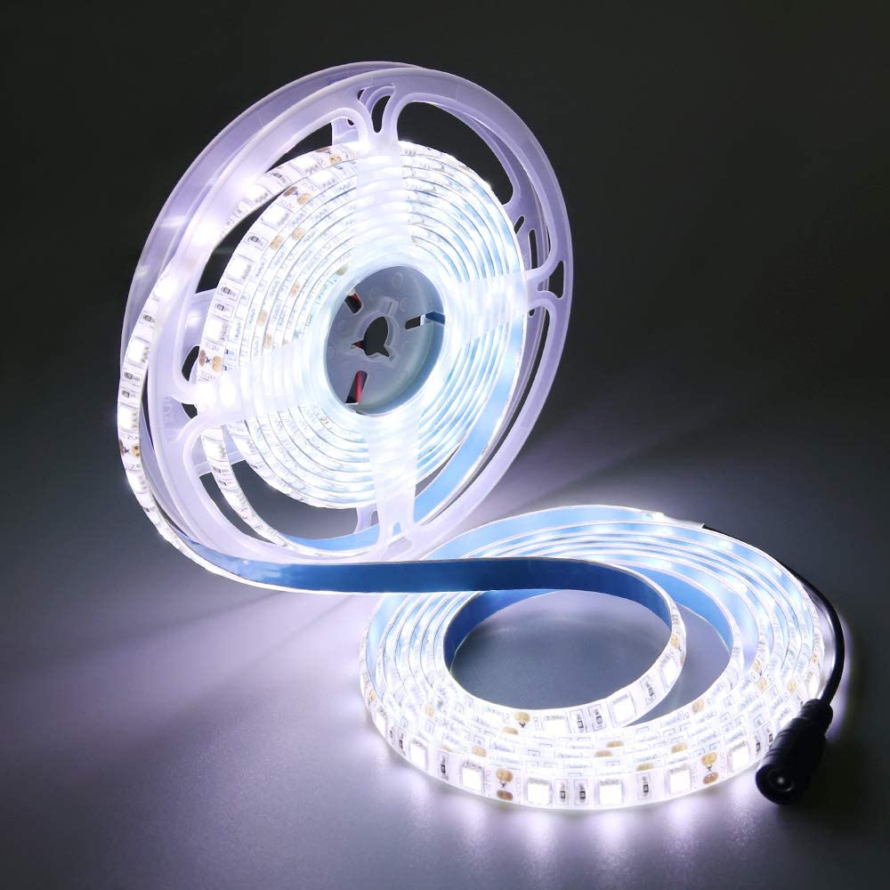 Bright Ultra Blue 5M 2835 Waterproof Flexible LED Strip Light 300Leds 12V