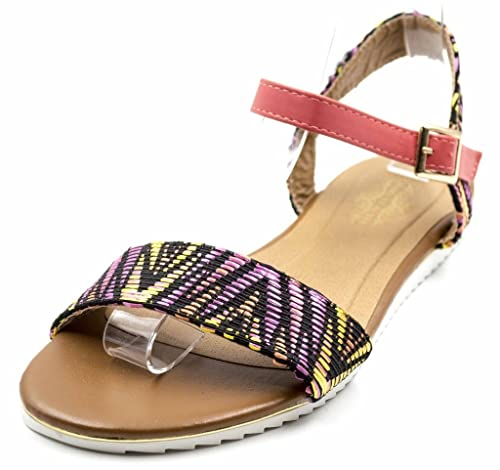 a9715b338a3d77 Orly Shoes Women s EE Sierra Indian Stitch Boho Sandal with Ankle Strap in  Multi Size