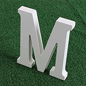 Amazoncom wishwin white large wooden letters 59quot a z for Large wooden letters amazon