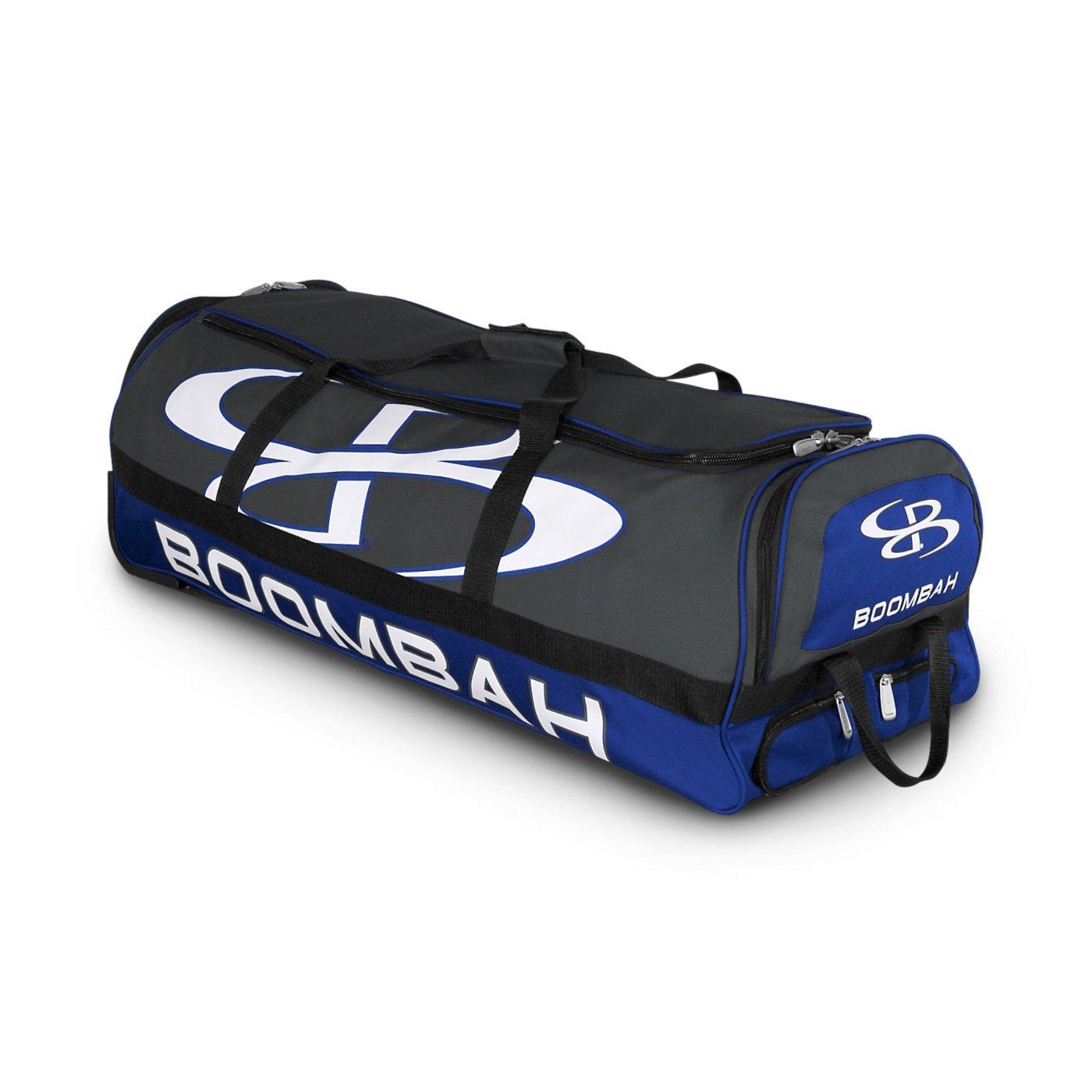 (ブームバー) Boombah Bruteシリーズ キャスター付きバットケース 野球ソフトボール用 35×15×12–1/2インチ 49色展開 4本のバットと用具を収納可能 B01MXRXI03 Dark Charcoal/Royal Dark Charcoal/Royal
