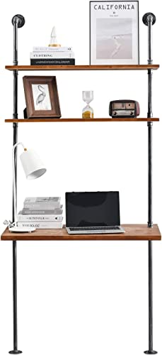 Industrial Laptop Desk Rustic Wall Ladder Desk