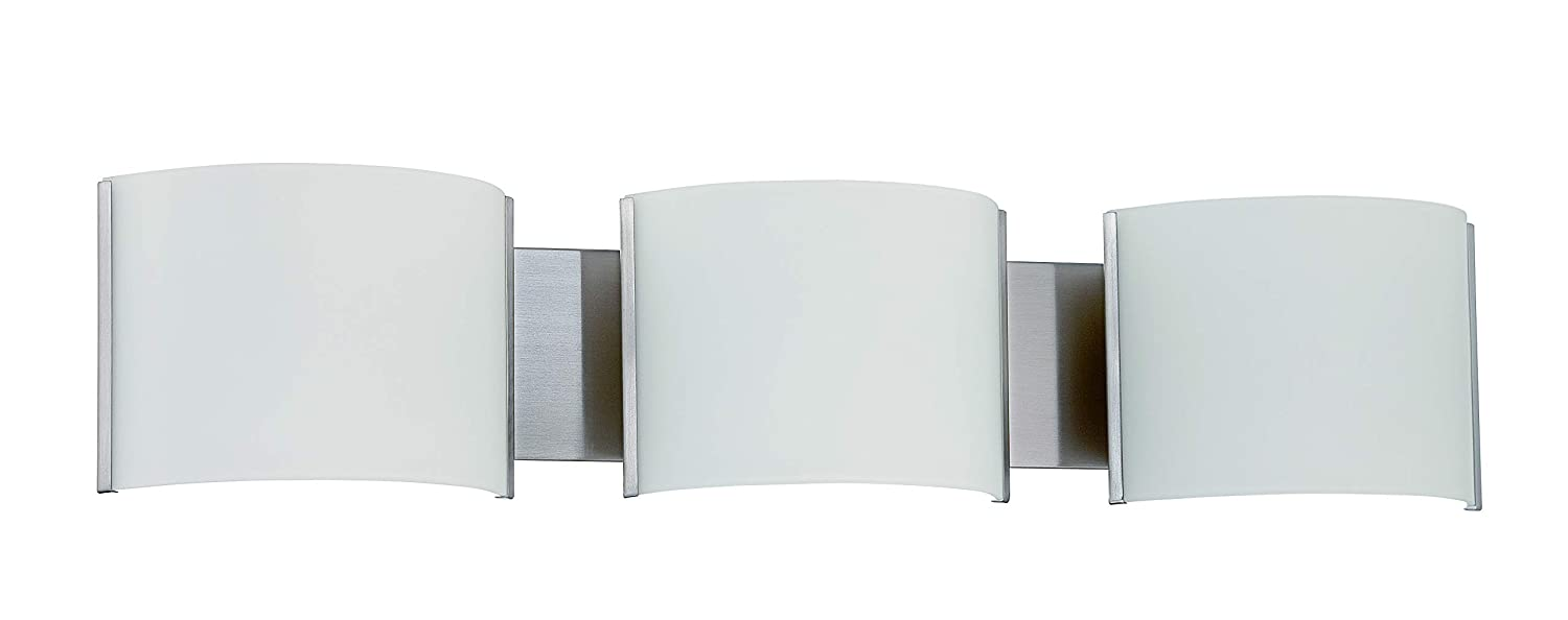 Sunset Lighting F3123-80 LED 3LT Stanton Vanity BSN 24W 1680LM 3000K One Size Bright Satin Finish