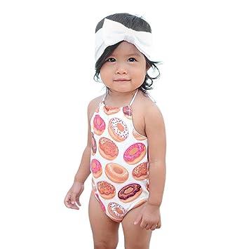 Amazon.com: Coper traje de baño, Bebés, niñas, correas traje ...