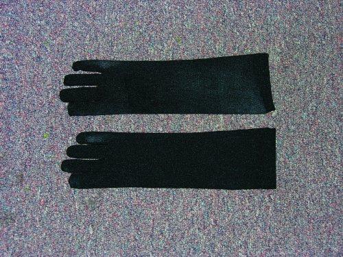 Nylon Costume Gloves Child: Black One Size - Black Theatrical Child Gloves