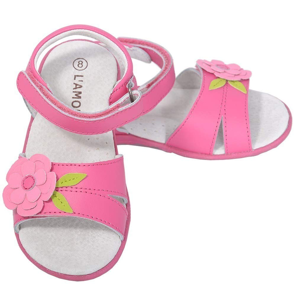 LAmour Fuchsia Flower Sandals Shoes Baby Girls 4-Toddler Girls 10