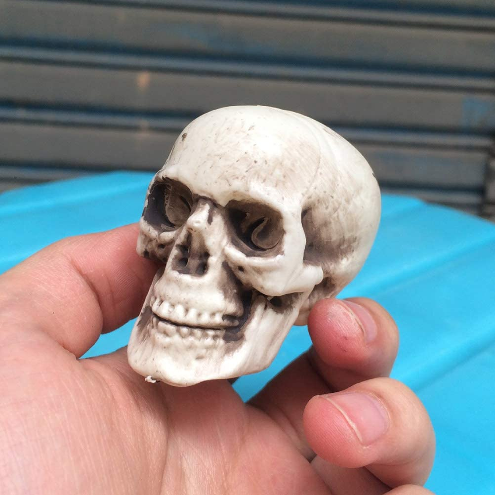 Decor Table Halloween Mini Plastic Skull, Horrible Jaw Halloween Prop Halloween Bedroom Decor 4pcs