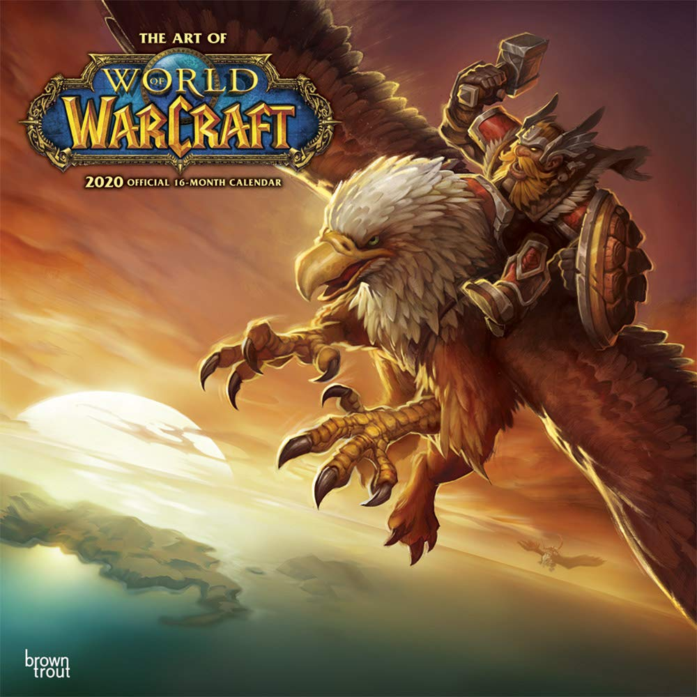 New World Of Warcraft Expansion 2020.Amazon Com World Of Warcraft 2020 12 X 12 Inch Monthly