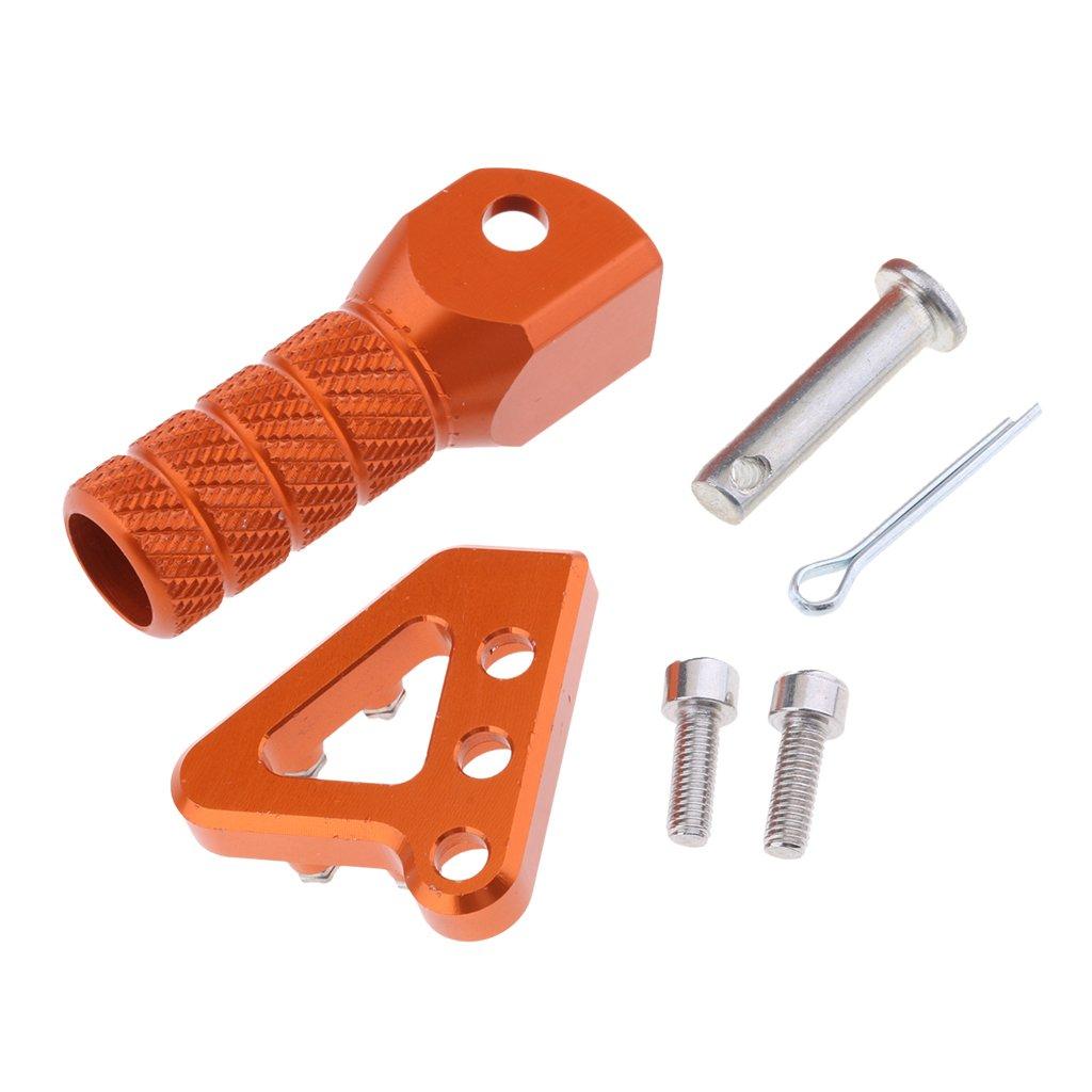 Gear Shifter Shift Lever Tip Set for KTM 990 ADVENTURE 2007-2008 Homyl Orange Motorcycle CNC Rear Brake Pedal Step Plate