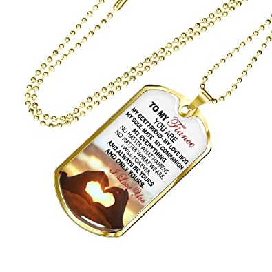 ThisYear to My Fiance I Love You Dog Tag Personalized - You ...
