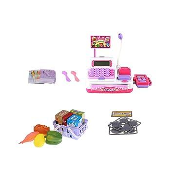 Amazon.es: MagiDeal Juguete Electrónico de Caja Registradora de Simulación Fingir Juego de rol para Niños: Juguetes y juegos