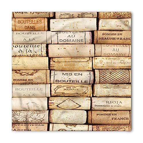Winery Bandana, Wine Corks Aged French Wine, Unisex Head and Neck Tie ()