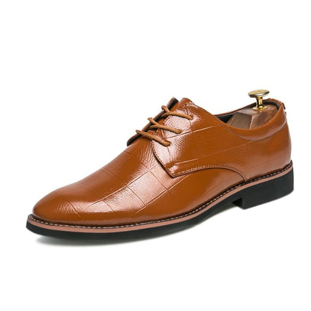 Color : Brown, Size : 41 Mens Breathable//Pointed Leather Shoes Spring//Fall Mens Formal Shoes Office//Party Wedding Shoes//Dress Shoes